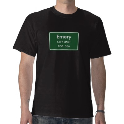 Emery, SD City Limits Sign Tee Shirt