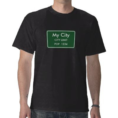 My City Limit Sign - Black T-Shirt