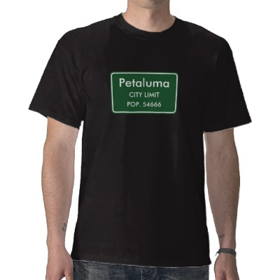 Petaluma, CA City Limits Sign Tee Shirt