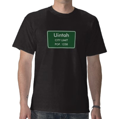 Uintah, UT City Limits Sign T-Shirt