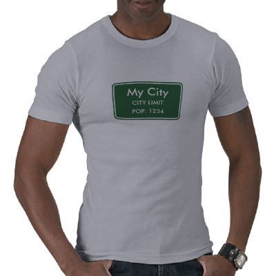 My City Limit Sign - Grey T-Shirt